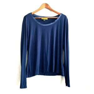 St. John Blue Long sleeves blouse size XL